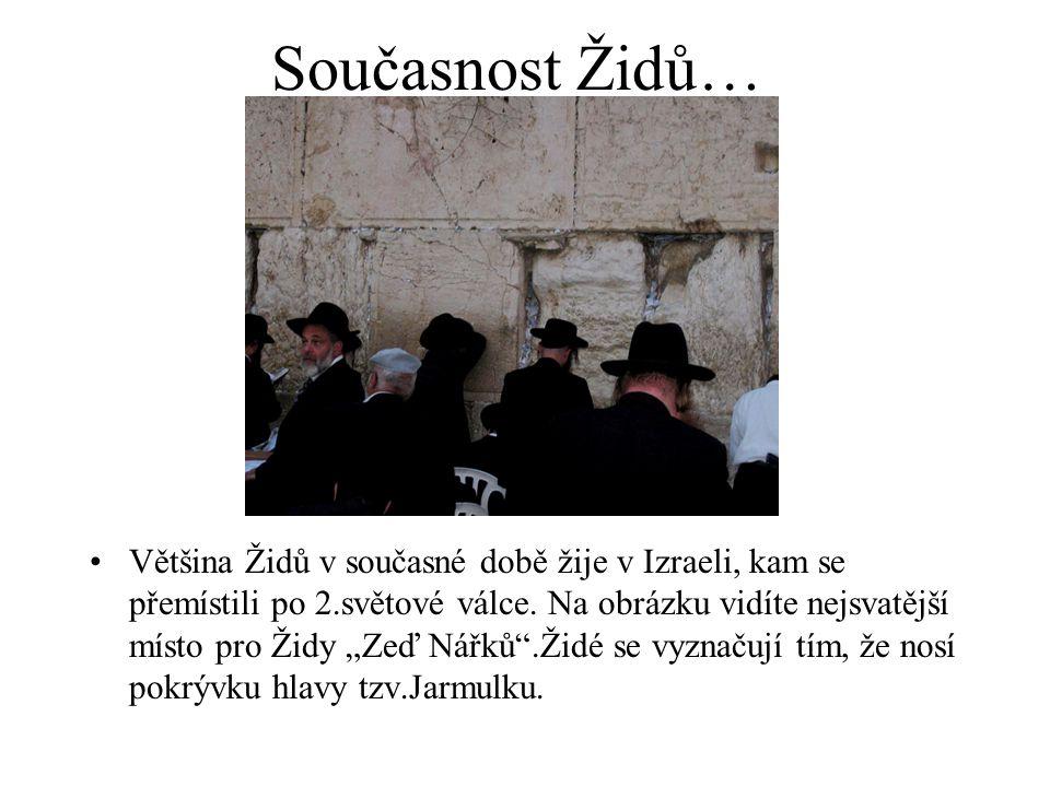 Současnost Židů…