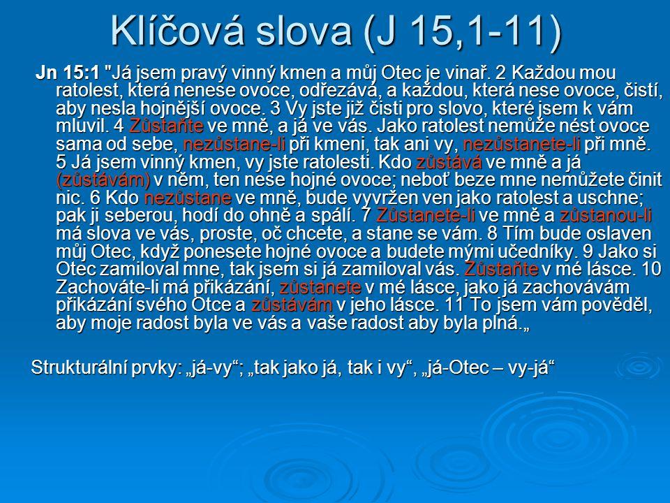 Klíčová slova (J 15,1-11)