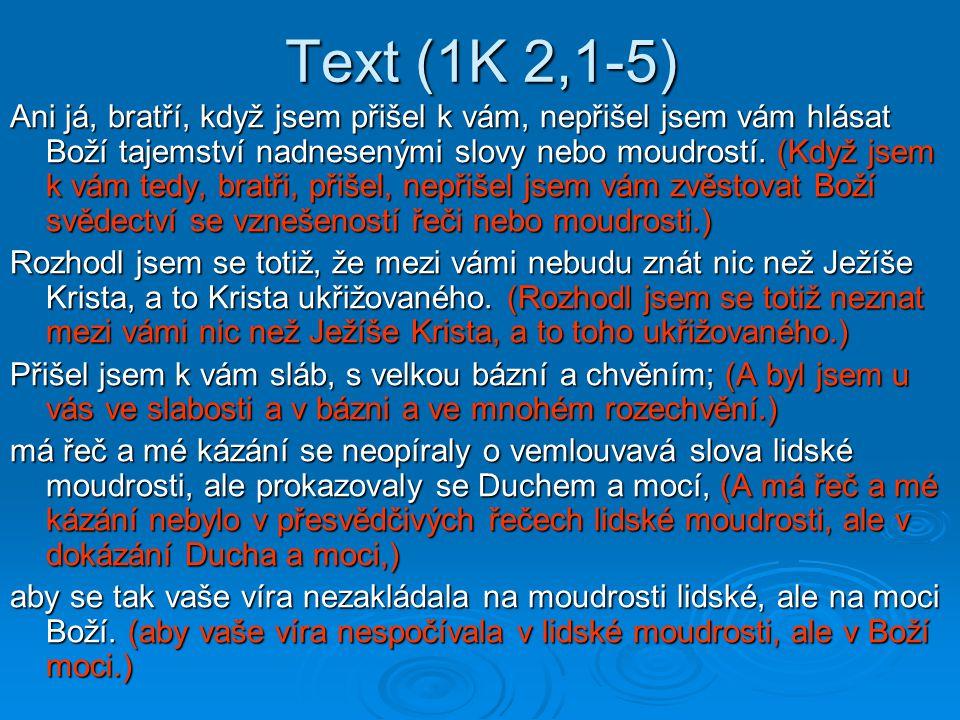 Text (1K 2,1-5)