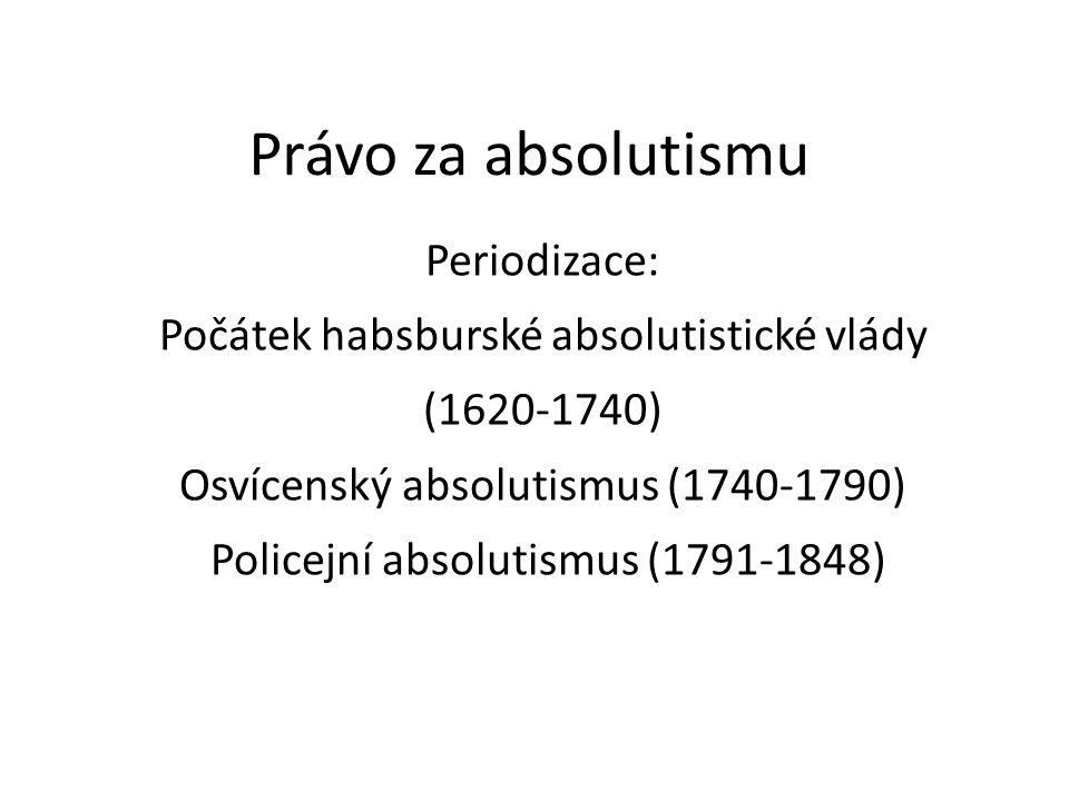 Právo za absolutismu Periodizace: