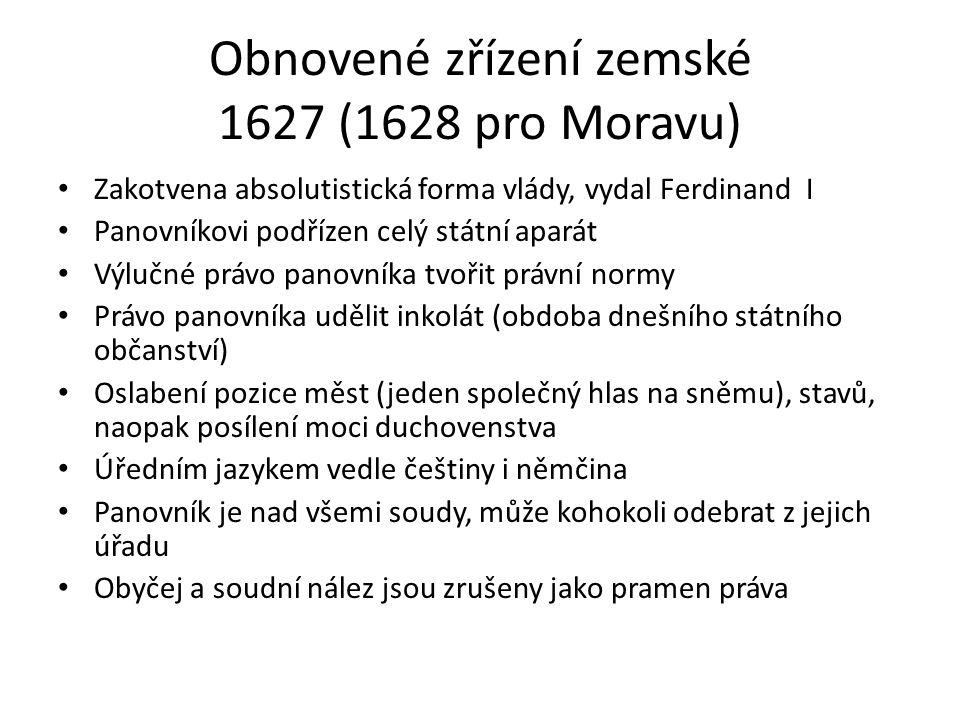 Obnovené zřízení zemské 1627 (1628 pro Moravu)