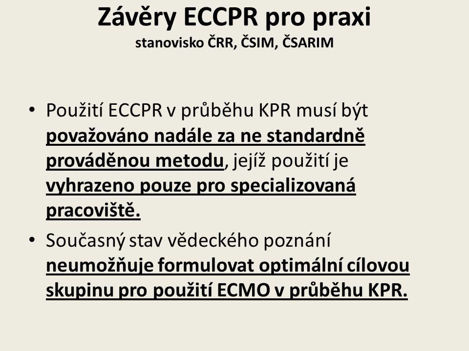Závěry ECCPR pro praxi stanovisko ČRR, ČSIM, ČSARIM