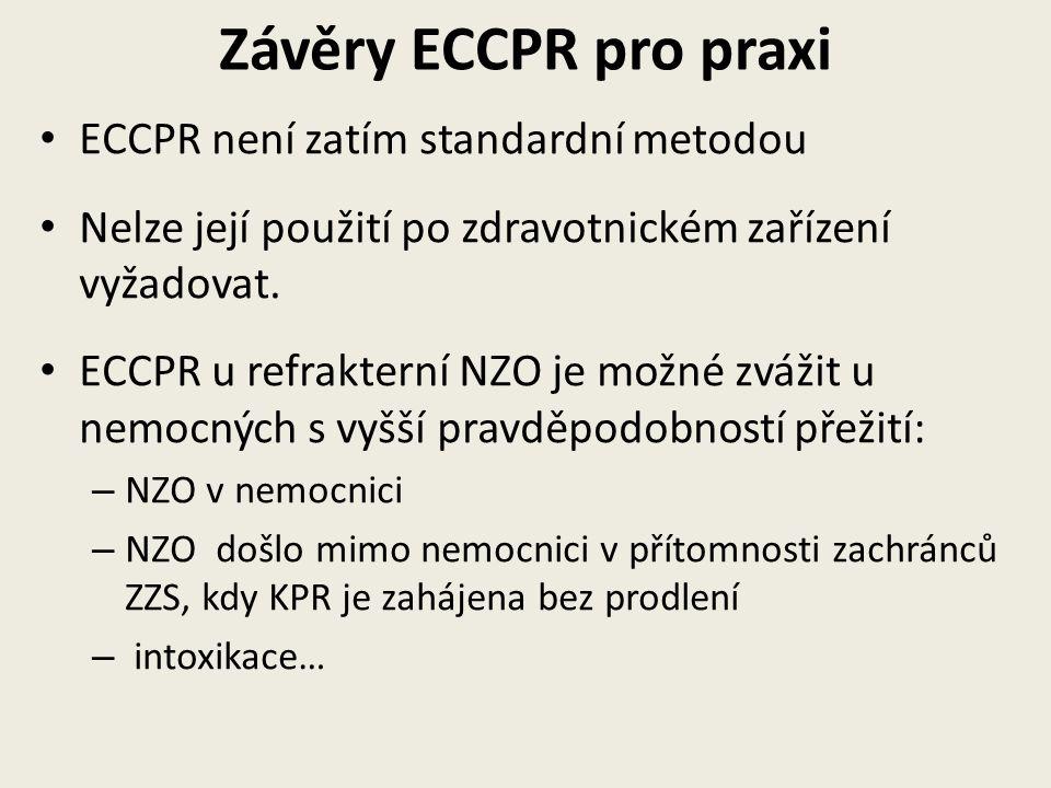 Závěry ECCPR pro praxi ECCPR není zatím standardní metodou