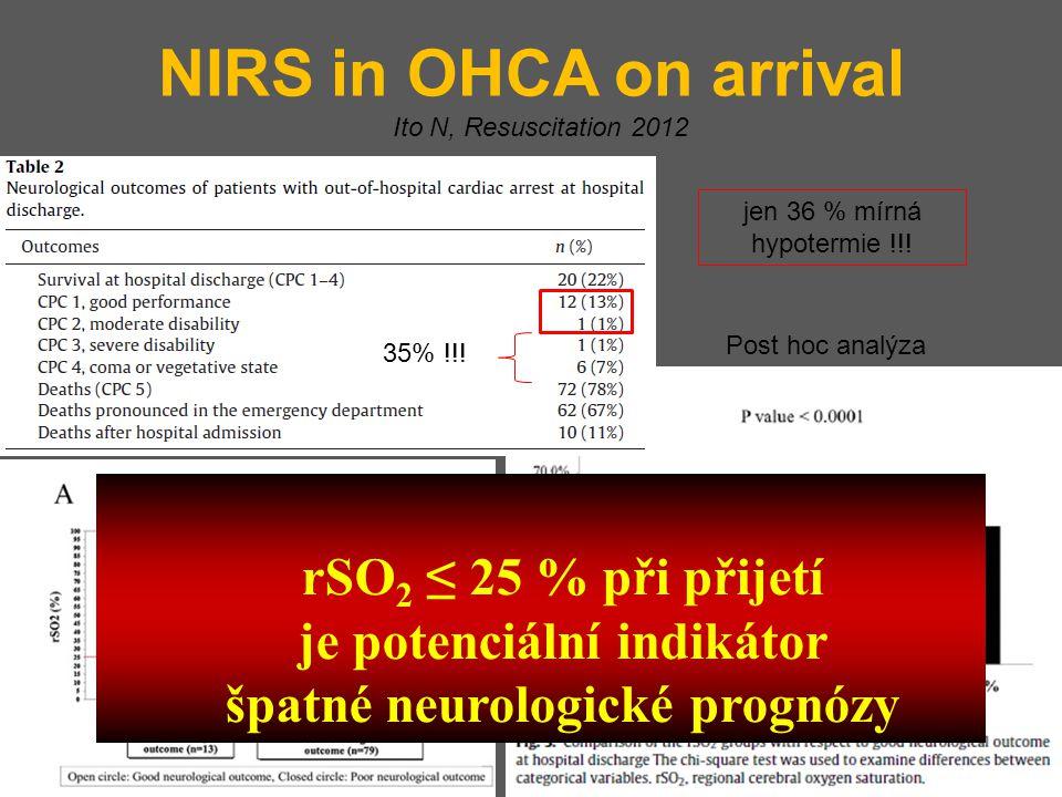 je potenciální indikátor špatné neurologické prognózy