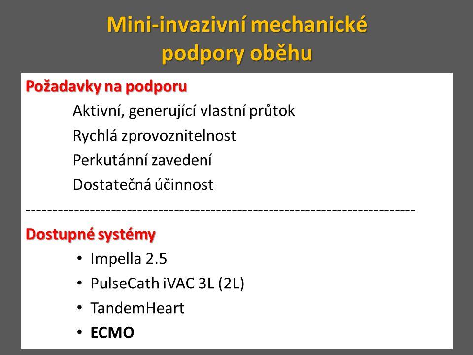 Mini-invazivní mechanické