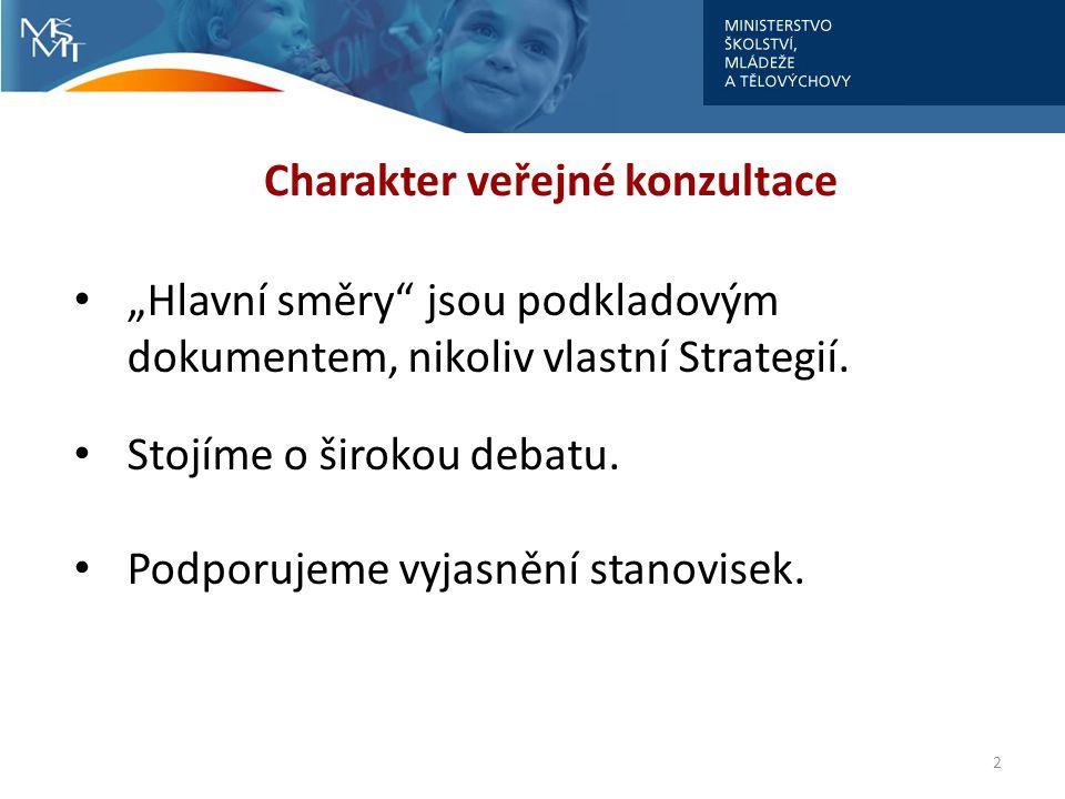 Charakter veřejné konzultace