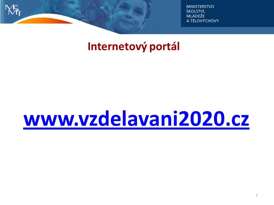 Internetový portál www.vzdelavani2020.cz