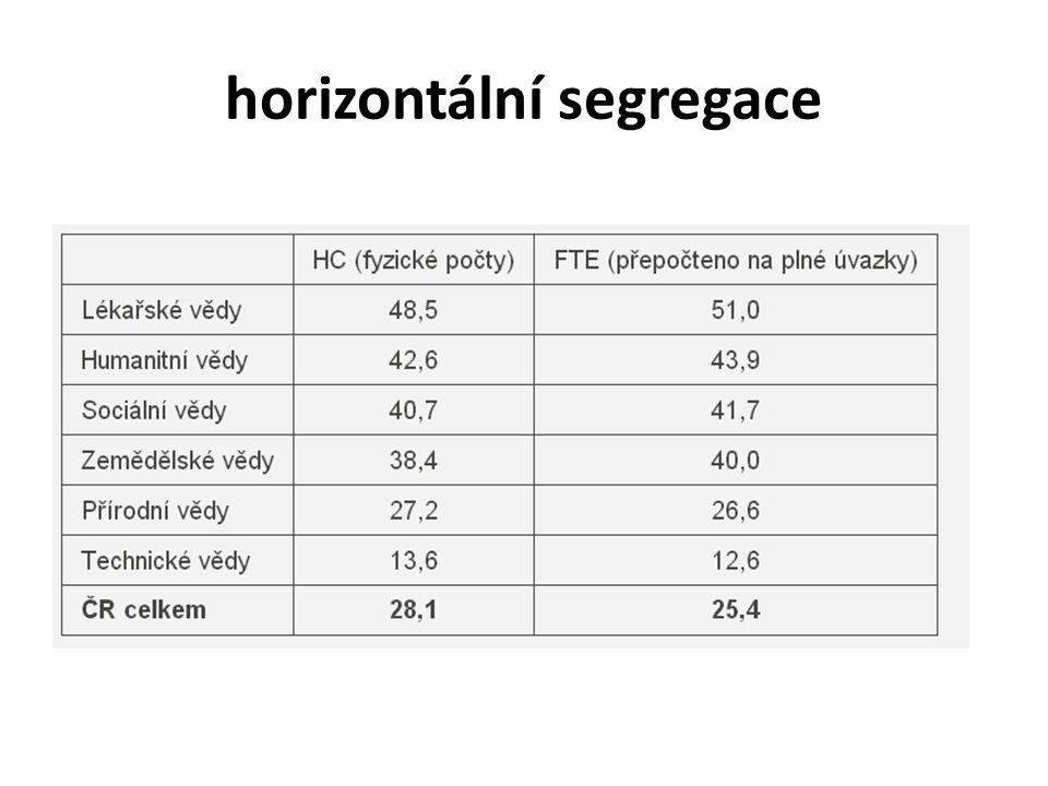 horizontální segregace