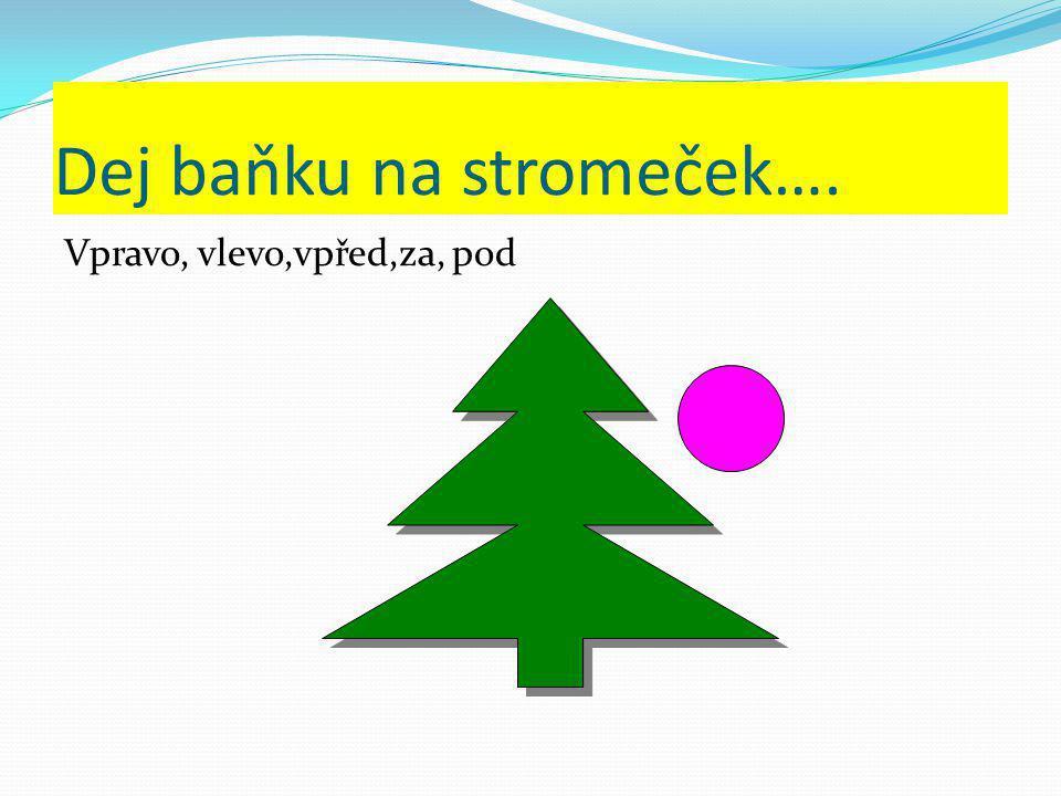 Dej baňku na stromeček….