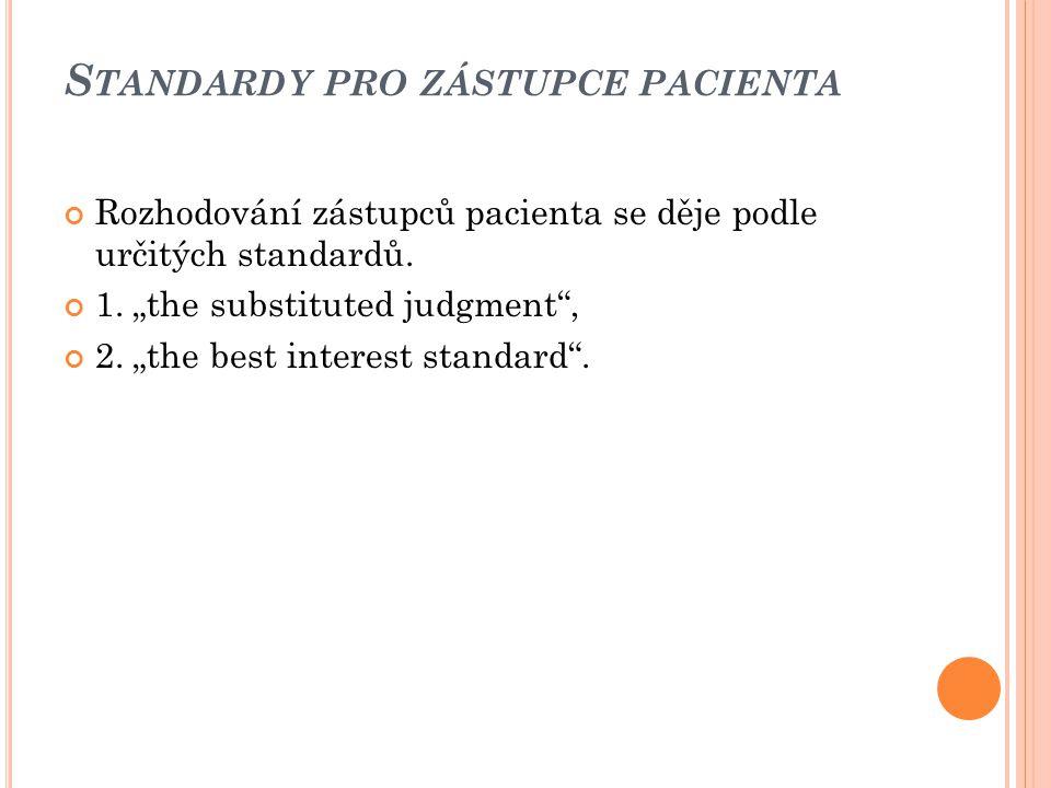 Standardy pro zástupce pacienta