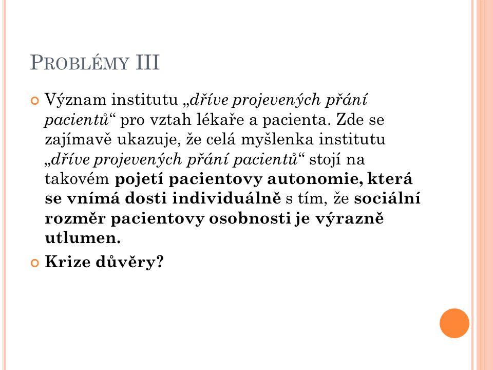 Problémy III