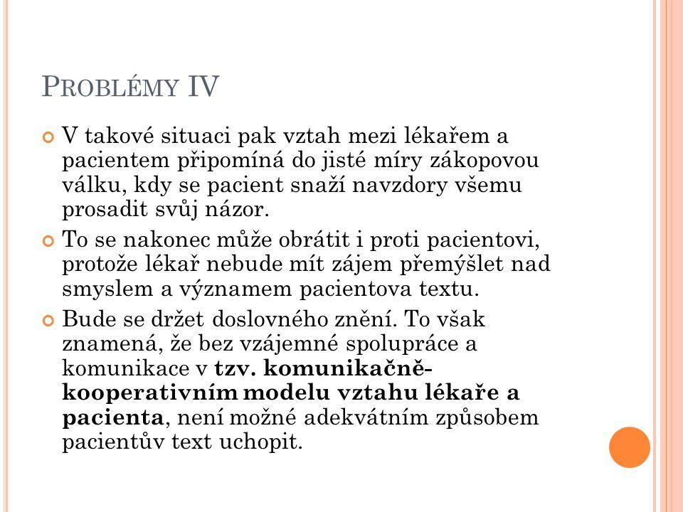 Problémy IV