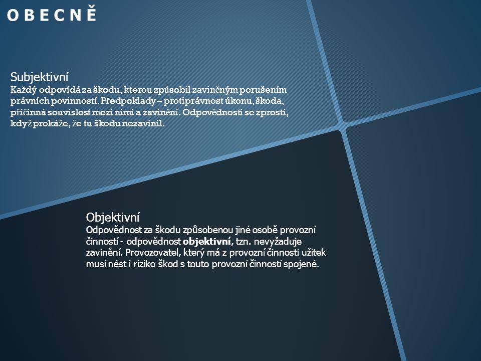 O B E C N Ě Subjektivní Objektivní