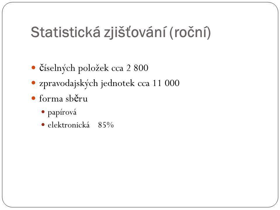 Statistická zjišťování (roční)