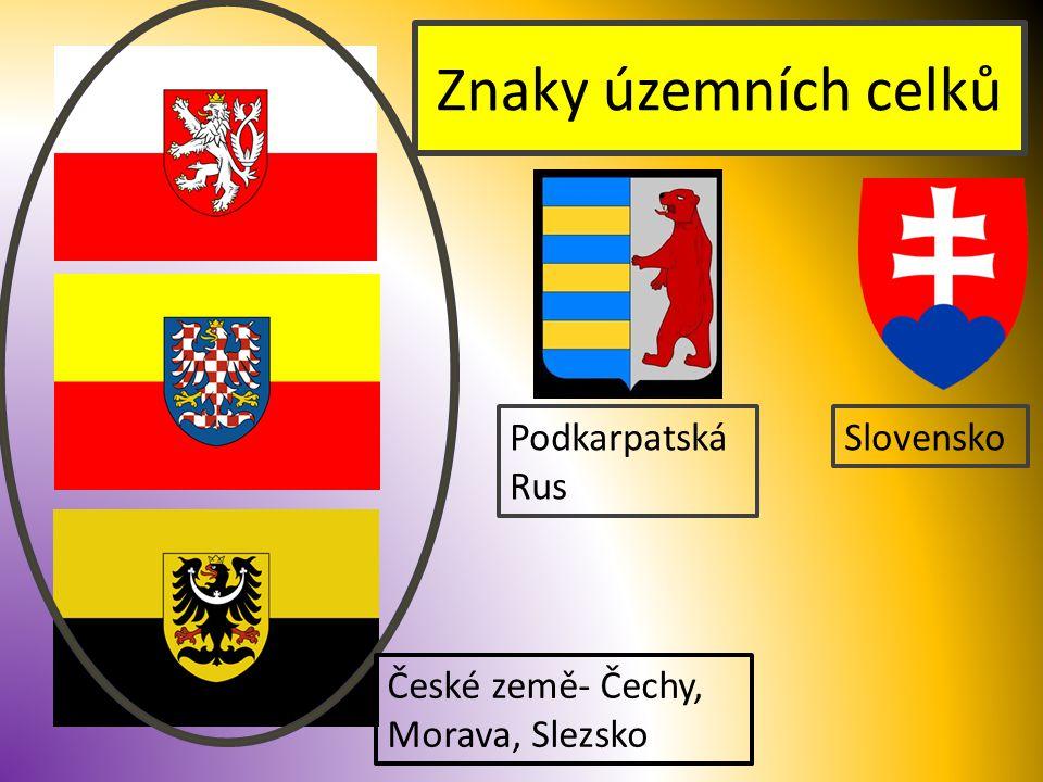 Znaky územních celků Podkarpatská Rus Slovensko