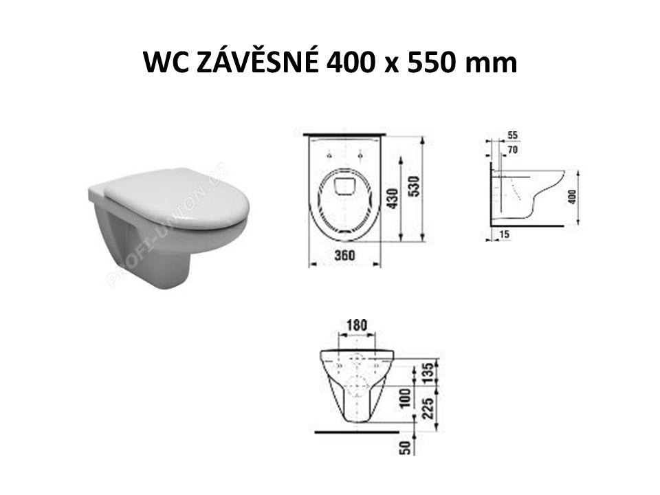 WC ZÁVĚSNÉ 400 x 550 mm