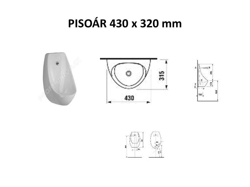 PISOÁR 430 x 320 mm