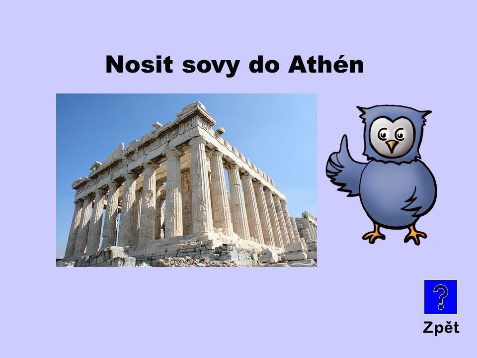 Nosit sovy do Athén Zpět
