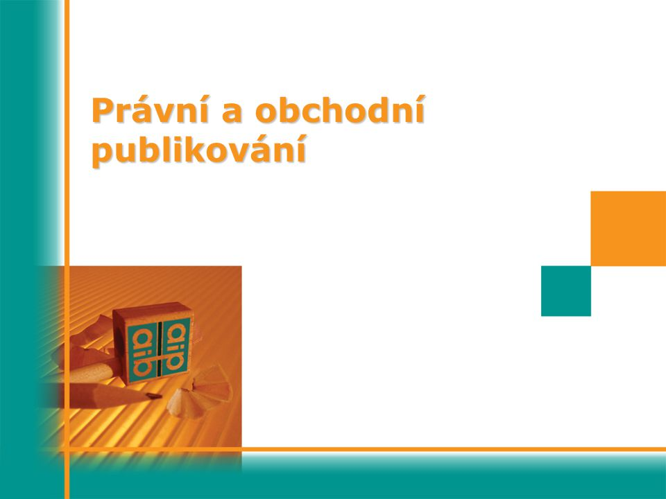 Právní a obchodní publikování