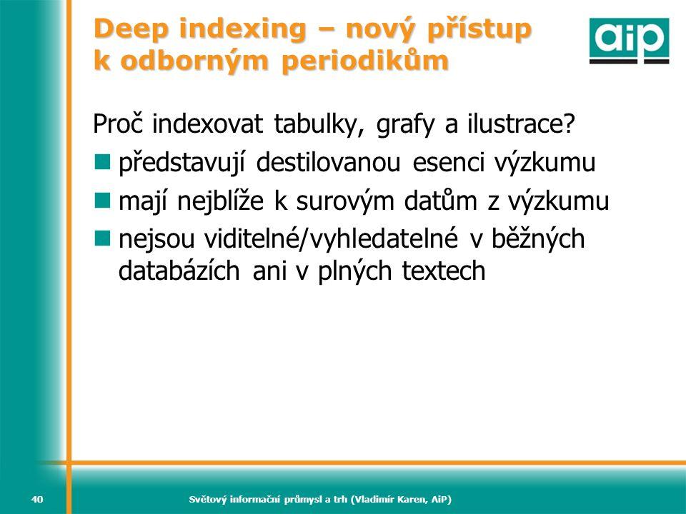 Deep indexing – nový přístup k odborným periodikům