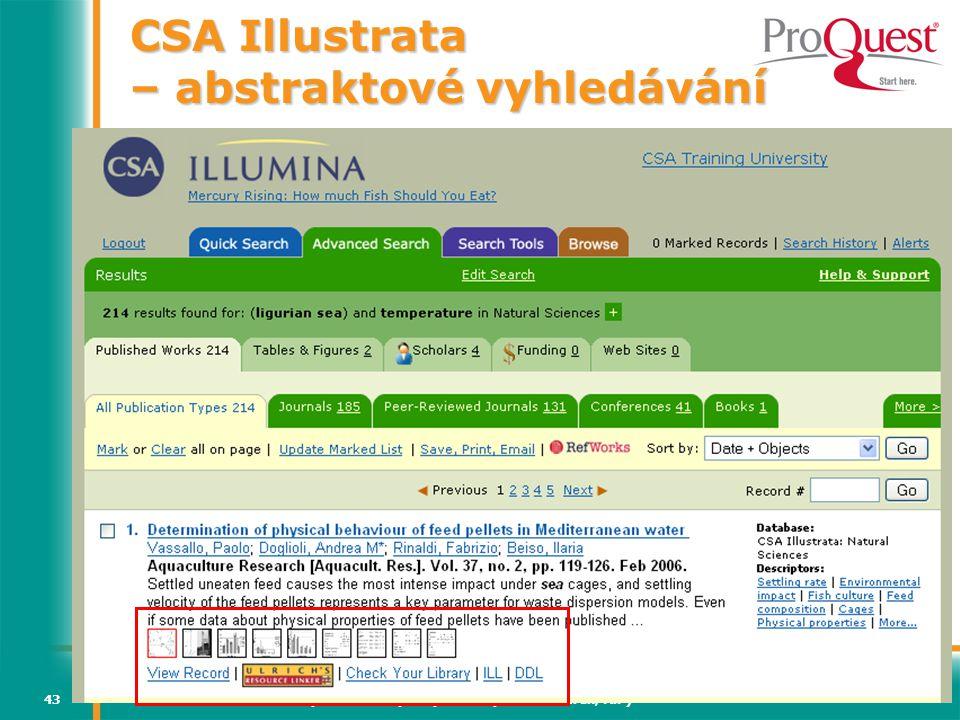 CSA Illustrata – abstraktové vyhledávání