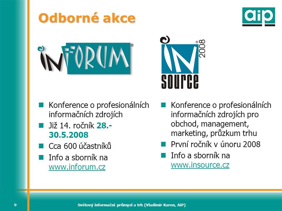 Světový informační průmysl a trh (Vladimír Karen, AiP)