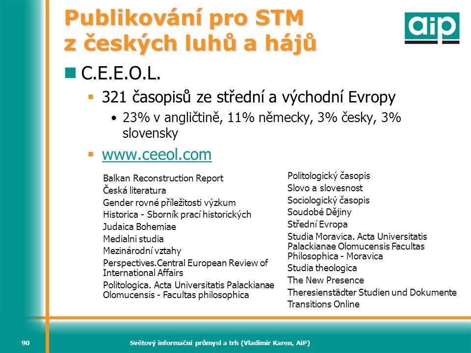 Publikování pro STM z českých luhů a hájů