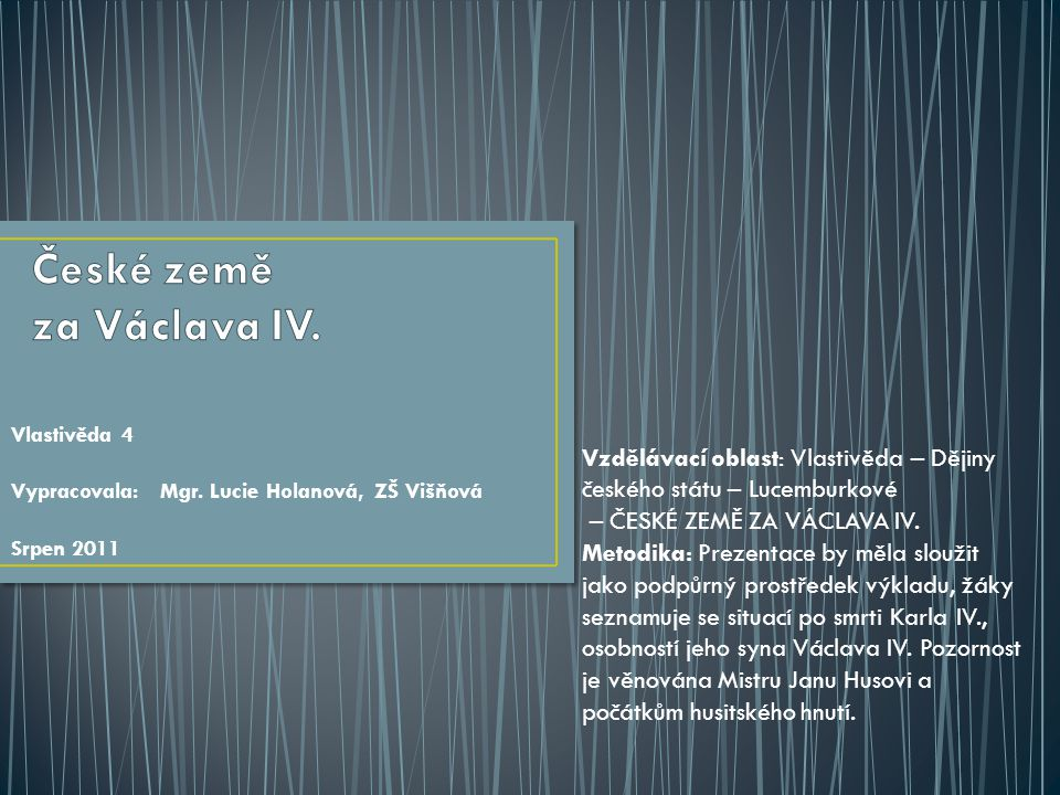 České země za Václava IV.