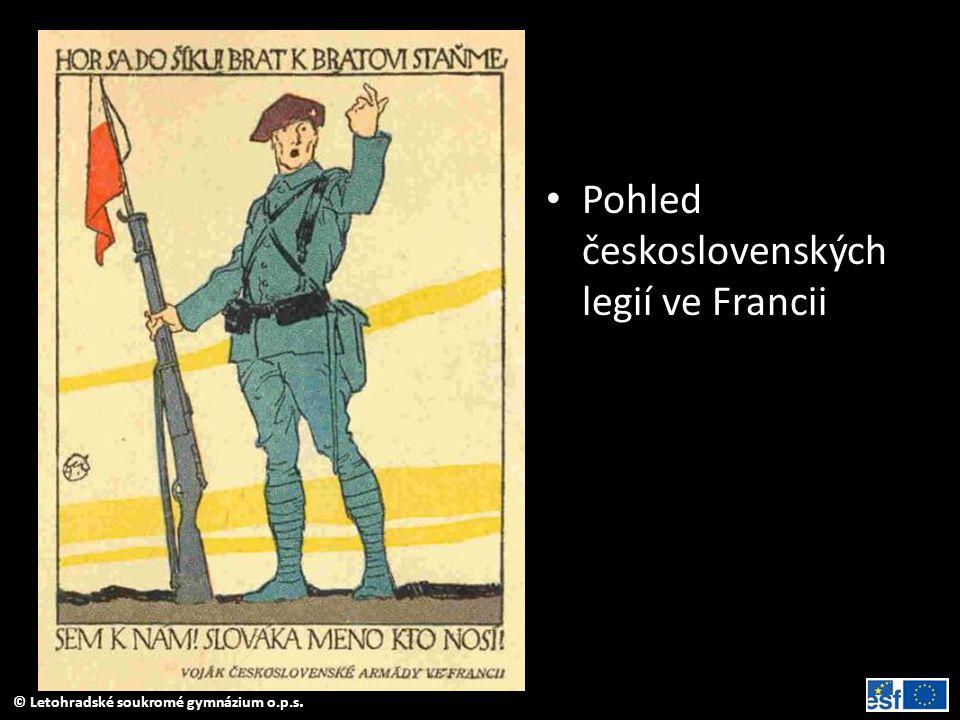 Pohled československých legií ve Francii