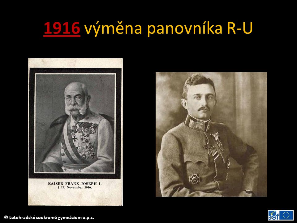 1916 výměna panovníka R-U