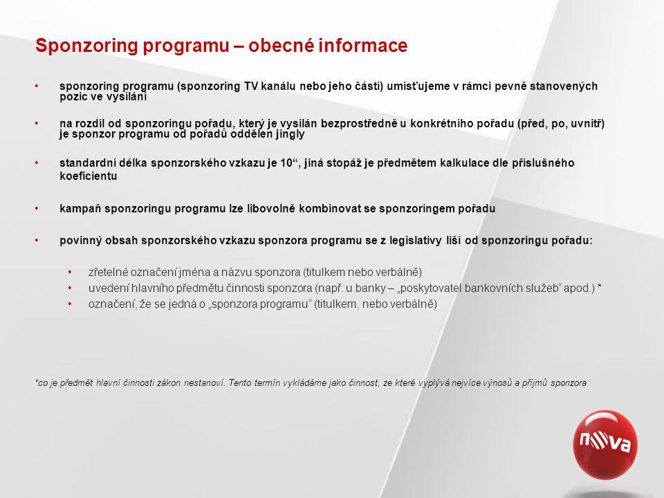 Sponzoring programu – obecné informace