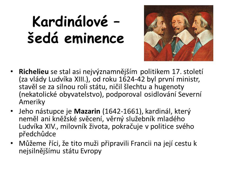 Kardinálové – šedá eminence