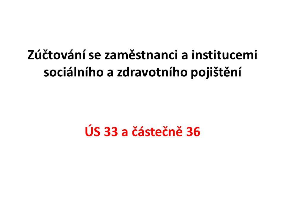 Zúčtování se zaměstnanci a institucemi sociálního a zdravotního pojištění