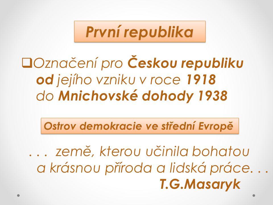 První republika Označení pro Českou republiku