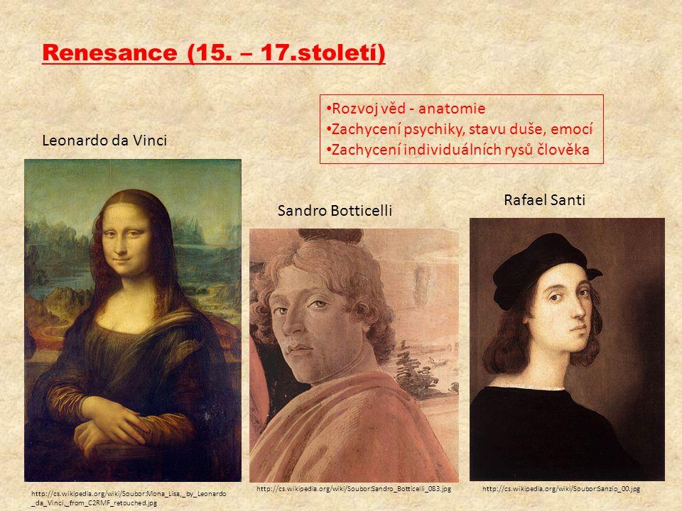 Renesance (15. – 17.století) Rozvoj věd - anatomie