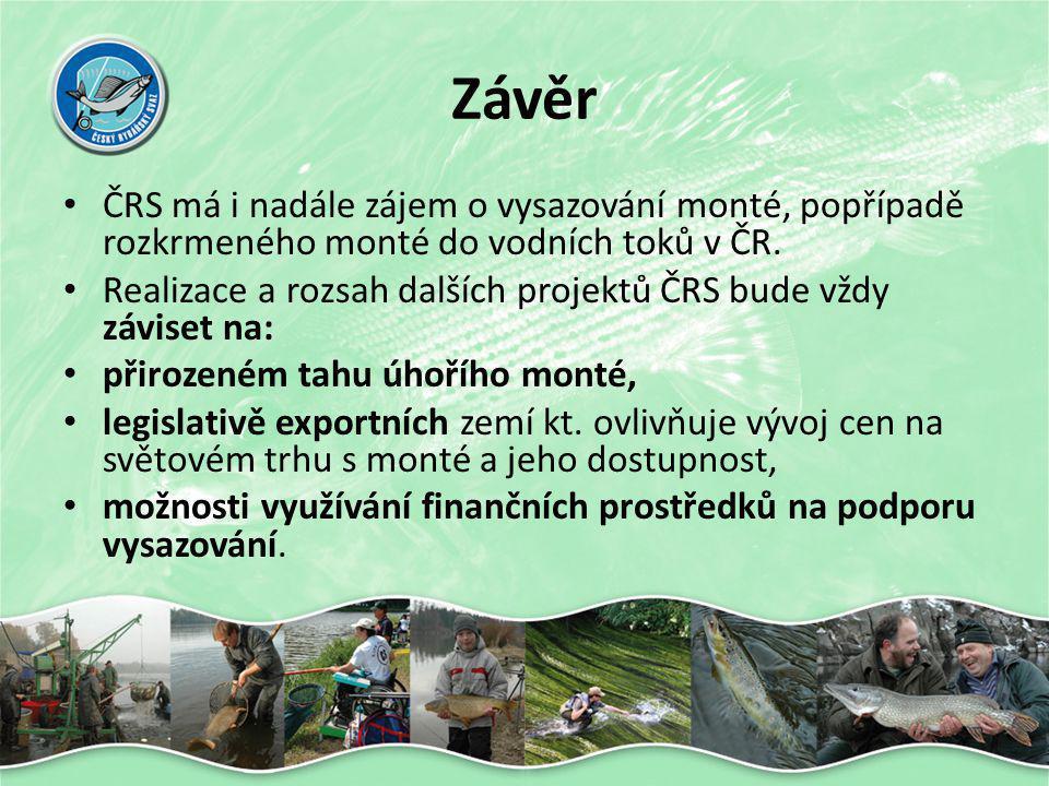 Závěr ČRS má i nadále zájem o vysazování monté, popřípadě rozkrmeného monté do vodních toků v ČR.