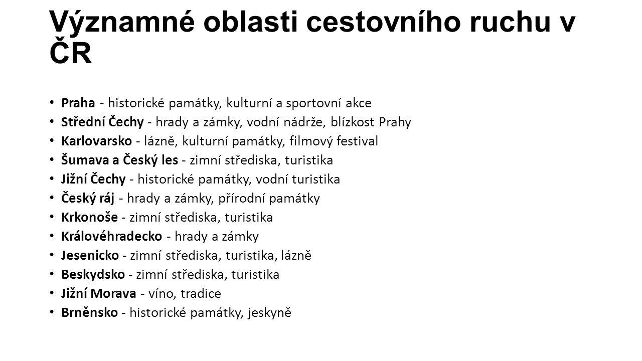 Významné oblasti cestovního ruchu v ČR