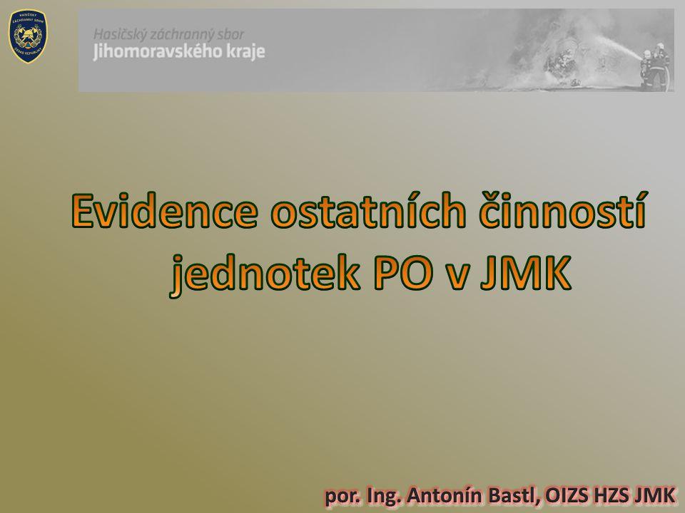 Evidence ostatních činností jednotek PO v JMK