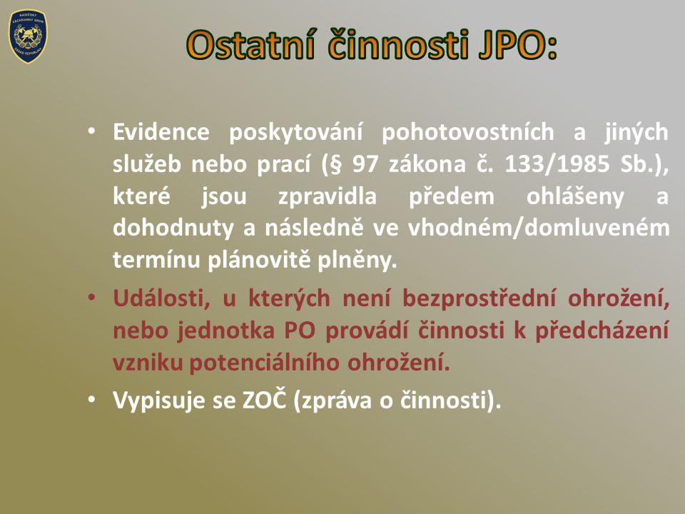 Ostatní činnosti JPO: