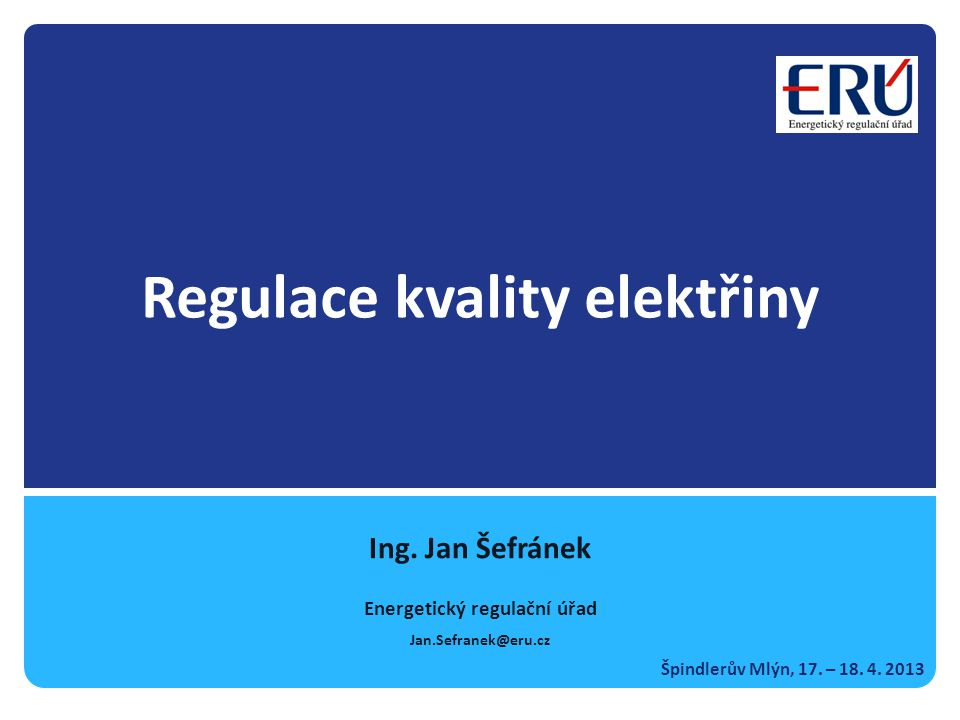 Regulace kvality elektřiny