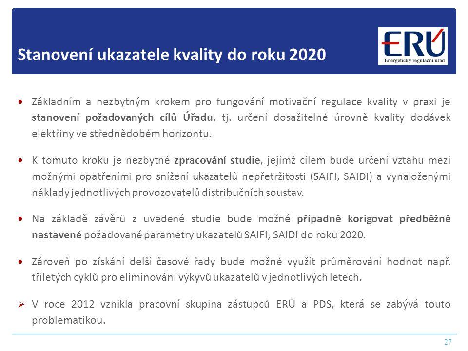 Stanovení ukazatele kvality do roku 2020