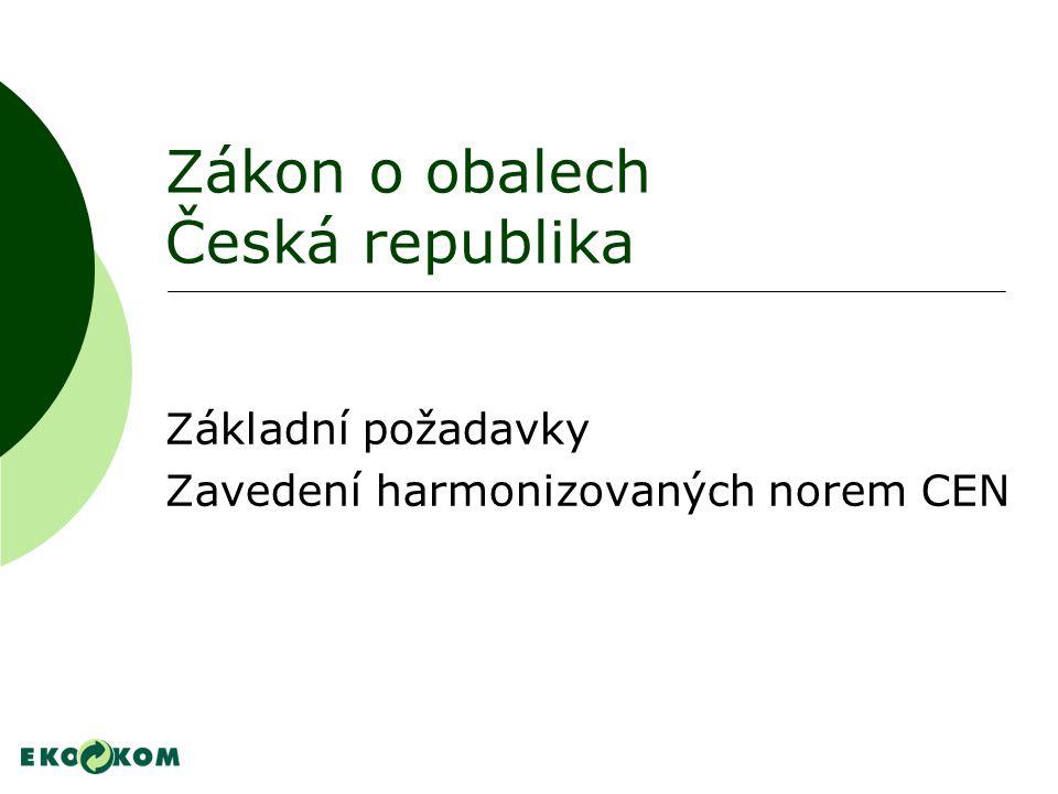 Zákon o obalech Česká republika