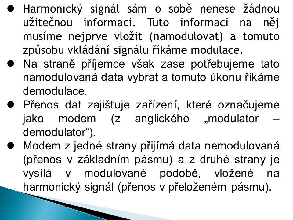 Harmonický signál sám o sobě nenese žádnou užitečnou informaci