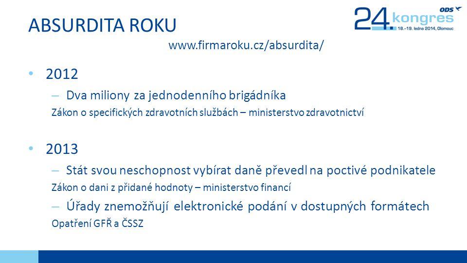 ABSURDITA ROKU www.firmaroku.cz/absurdita/
