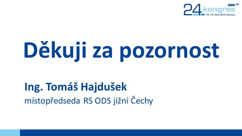 Děkuji za pozornost Ing. Tomáš Hajdušek