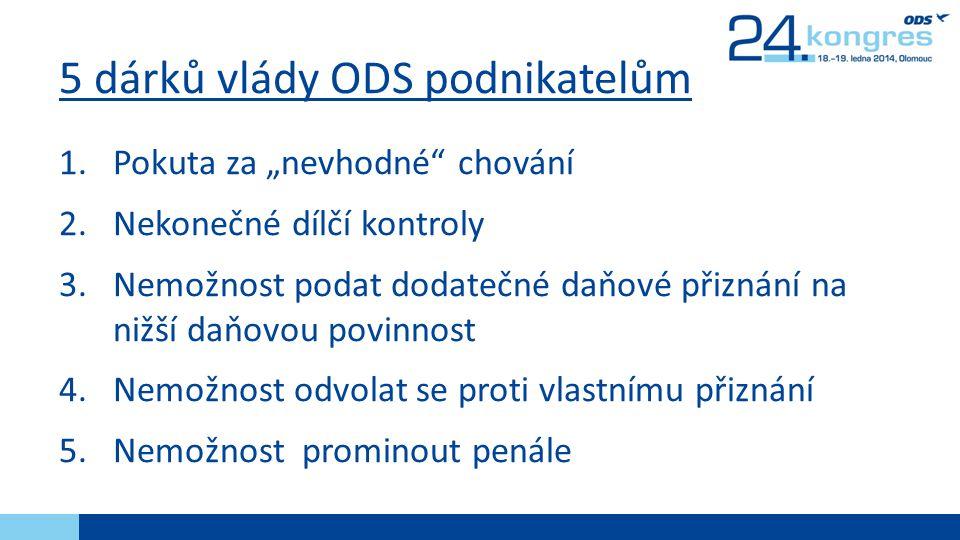 5 dárků vlády ODS podnikatelům