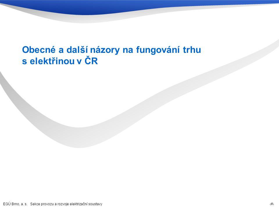Obecné a další názory na fungování trhu s elektřinou v ČR