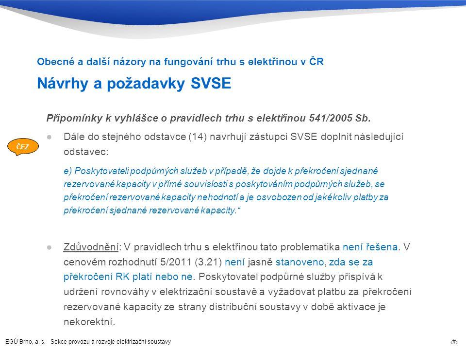 Návrhy a požadavky SVSE