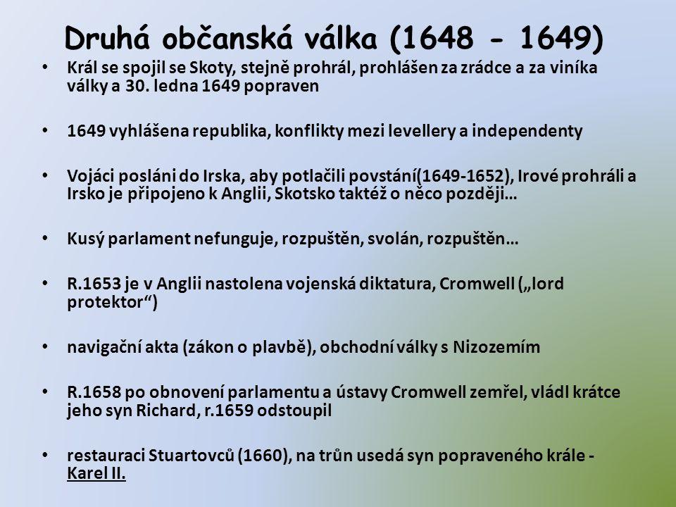 Druhá občanská válka (1648 - 1649)