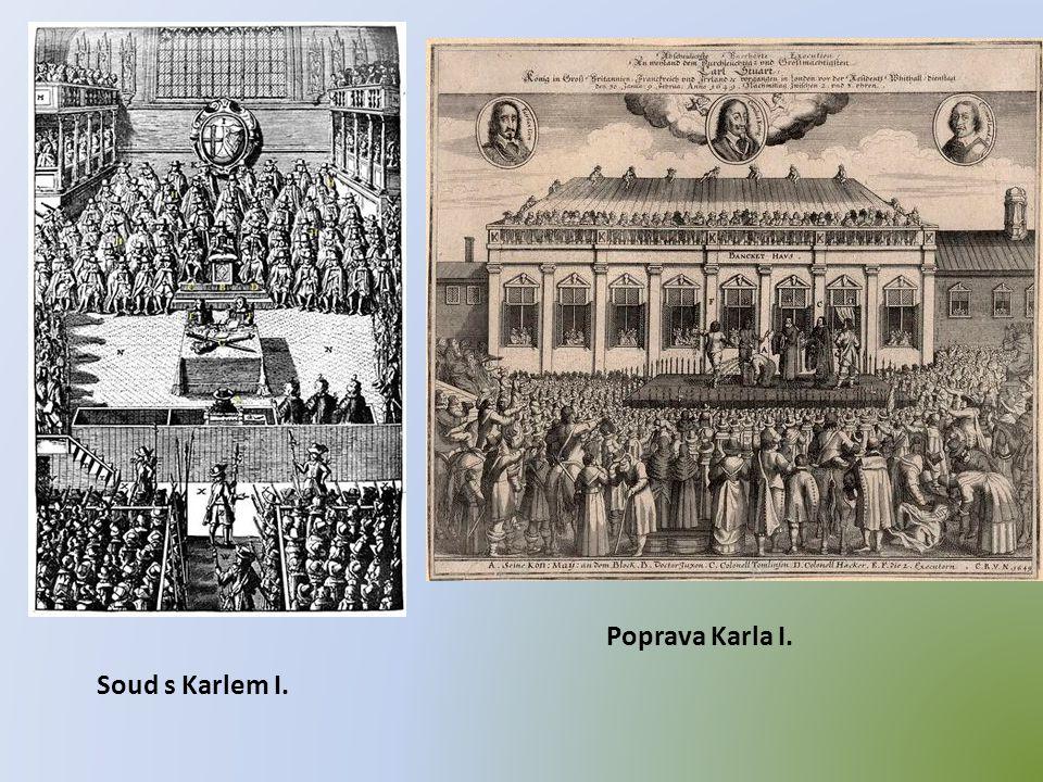 Poprava Karla I. Soud s Karlem I.
